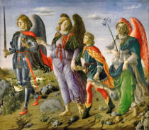 Francesco Botticini - The three Archangels and the youth, Tobias
