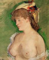 Edouard Manet - Blonde Woman with bare Breasts