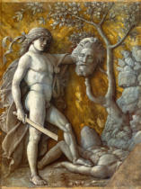 Andrea Mantegna - David a.Goliath /Paint./Mantegna / C15th