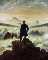 Caspar David Friedrich - The wayfarer above sea of fog