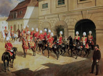 Franz Zeller von Zellenberg - Return of the Guards to the barracks