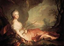 Jean-Marc Nattier - Portrait of Marie Adelaide of France as Diana