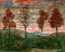 Egon Schiele - Four Trees