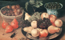 Georg Flegel - Still Life with Fruit, Nuts and Stag-Beetle