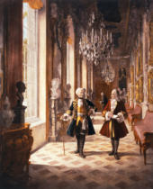 Georg Schöbel - Frederick the Great and Voltaire