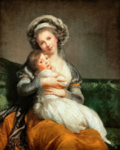 Élisabeth-Louise Vigée-Lébrun - Selfportrait of the artist with her daughter, 1786