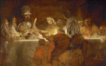 Harmensz van Rijn Rembrandt - The conspiracy of Claudius Civilis 1661