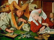 Marinus Claes van Roymerswaele - The tax collector and his wife