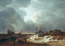Jacob Isaaksz. van Ruisdael - Storm at sea