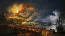 Pierre-Jacques Antoine Volaire - Eruption of Vesuvius