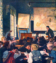 Carl Hertel - Classroom during Geography Lessons