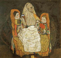 Egon Schiele - Mother with two children III