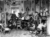 Anton Alexander von Werner - At the base quarter outside Paris