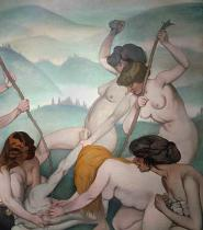 Felix Edouard Vallotton - Orpheus is torn to pieces by the Maenads
