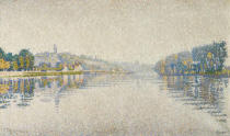 Paul Signac - Bords de riviere. La Seine a Herblay