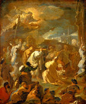 Luca Giordano - David brings the Ark to Jerusalem. Late