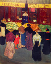 Felix Edouard Vallotton - On the market