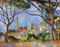 Paul Cézanne - La mer à l'Estaque