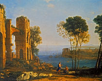 Claude Lorrain - Coastal landscape with Apollo and the Cumean Sibyl
