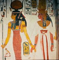 Wandmalerei - Nefertari and Hathor / Wall painting