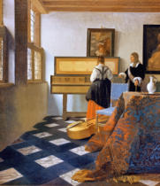 Jan Vermeer van Delft - The music lesson