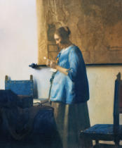 Jan Vermeer van Delft - Woman in blue reading a letter