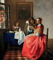 Jan Vermeer van Delft - The girl with the wine glass