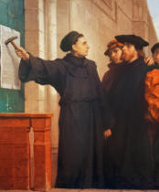 Ferdinand Wilhelm Pauwels - Martin Luther's 95 Theses