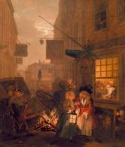 William Hogarth - The Four Times of Day: Night