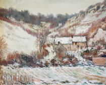 Claude Monet - Snowy atmosphere near Falaise