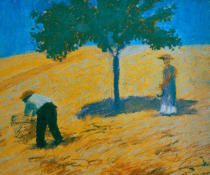 August Macke - Tree in a Corn Field