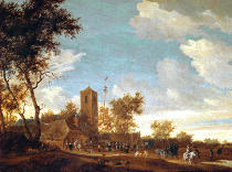 Salomon van Ruysdael - Celebration under the maypole