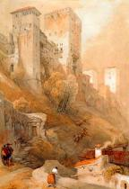 David Roberts - The Comares Tower of the Alhambra in Granada
