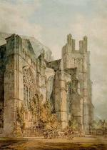Joseph Mallord William Turner - Die St.Anselmskapelle an der Kathedrale von Canterbury und die Corona, sog. Thomasa-Becket's Crown