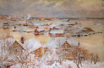 Albert Gustaf Aristides Edelfelt - A day in December.