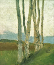 Paula Modersohn-Becker - Birch Trunks I
