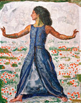 Ferdinand Hodler - Woman striding with arms lifted