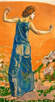Ferdinand Hodler - Woman with arms outstretched (Femme jouyeuse)