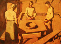 Albin Egger-Lienz - Peasants praying at a table