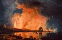 Pierre-Jacques Antoine Volaire - Eruption of Vesuvius, as seen from the Ponte della Maddalena.