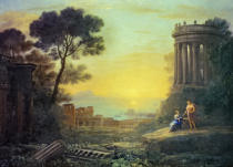 Claude Lorrain - Coastal Landscape with Apollo and the Cumaean Sibyl