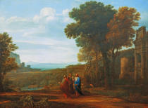 Claude Lorrain - Landscape with Christ on the Road to Emmaus