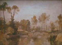 Joseph Mallord William Turner - House beside a River, with Trees and Sheep