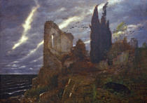 Arnold Böcklin - A.Böcklin/ Ruins by the Sea /1880