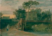 Joseph Mallord William Turner - Syon Ferry House, Isleworth, Sunset