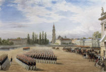 George Housman Thomas - Parade in Potsdam am 17. August 1858