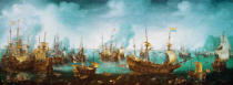 Cornelis Claesz van Wieringen - The naval battle at Gibraltar on 25 April 1607