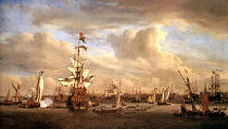 Willem van de Velde - The `Gouden Leeuw' on the Ij near Amsterdam
