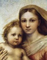 Raphael - The Sistine Madonna / heads