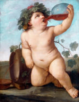 Guido Reni - Drinking Bacchus Boy